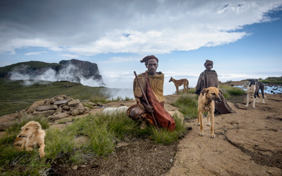 Basotho Herders on the Drakensberg Escarpment