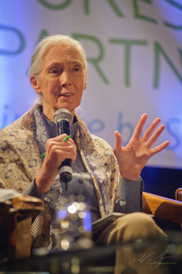 Jane Goodall addressing the Avoided Deforestation Partners event at the 2011 COP 17 Conference